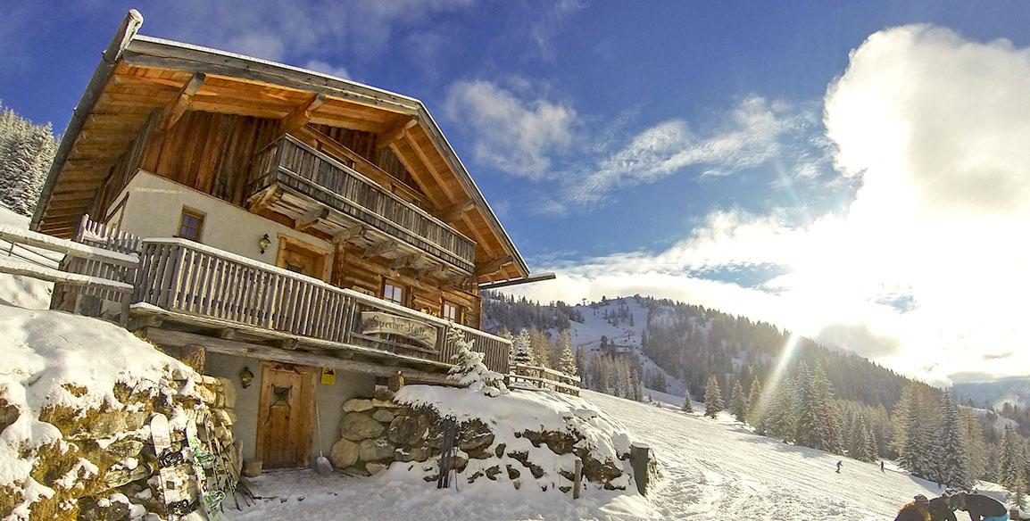 Hütte in Flachau im Winter